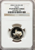 Proof Statehood Quarters, 2004-S 25C Texas Silver PR69 Ultra Cameo NGC. NGC Census: (0/0).PCGS Population (7804/382). Numismedia Wsl. Price for pro...