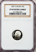 Proof Roosevelt Dimes, 2007-S 10C Silver PR69 Ultra Cameo NGC. PCGS Population (1455/385).Numismedia Wsl. Price for problem f...