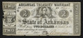 Obsoletes By State:Arkansas, Little Rock, AR- Arkansas Treasury Warrant $2 Nov. 1, 1864 Cr. 38B. ...