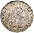 Early Half Dollars, 1801 50C XF40 NGC. O-101, R.3....