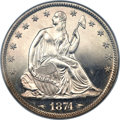 Proof Seated Half Dollars, 1874 50C Arrows PR65 NGC....