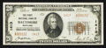 National Bank Notes:Maryland, Baltimore, MD - $20 1929 Ty. 2 The First NB Ch. # 1413. ...
