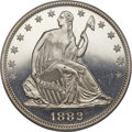 Proof Seated Half Dollars, 1882 50C PR65 Deep Cameo PCGS. CAC....