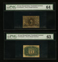 Fractional Currency:Second Issue, Fr. 1244 10¢ Second Issue Narrow Margin Specimen Face PMG Choice Uncirculated 64.. Fr. 1244 10¢ Second Issue Narrow Margin...