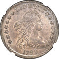 Early Dollars, 1799 $1 7x6 Stars AU53 NGC. B-21, BB-169, R.3....