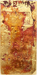 S.S. Central America Gold Bars, 87.17-Ounce Kellogg and Humbert Gold Ingot Recovered From the S.S. Central America. CAGB-409....