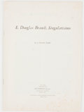 Books:Biography & Memoir, J. Frank Dobie. E. Douglas Branch, Singularisimo. Dallas:Southern Methodist University, 1962. First separate ed...