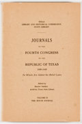 Books:Americana & American History, Harriet Smither [editor]. Journals of the Fourth Congress of theRepublic of Texas 1839-1840. Volume II. The House Journ...