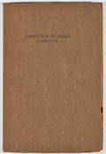 Books:Americana & American History, Narratives of Captivity Among the Indians of North America.Chicago: Newberry Library, [1912]. First edition, first ...