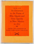Books:Americana & American History, James Henry Carleton. Diary of an Excursion to the Ruins of Abo,Quarra and Gran Quivira in New Mexico in 1853. ...