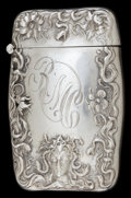 Silver Smalls:Match Safes, A BATTIN SILVER MATCH SAFE . Battin & Co., Newark, New Jersey,circa 1890. Marks: STERLING - B, 218. 2-1/2 inches high (...