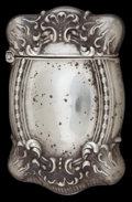 Silver Smalls:Match Safes, AN UNGER SILVER MATCH SAFE . Unger Bros., Newark, New Jersey, circa1890. Marks: UB (interlaced), STERLING 925 FINE...