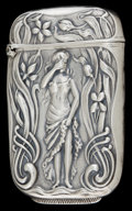 Silver Smalls:Match Safes, AN AMERICAN SILVER MATCH SAFE . Maker unknown, American, circa1900. Marks: STERLING . 2-1/2 inches high (6.4 cm). 0.7 o...