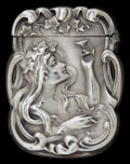 Silver Smalls:Match Safes, AN AMERICAN SILVER MATCH SAFE . Unknown maker, American, circa1900. Marks: STERLING. 2-3/8 inches high (6.0 cm). 0.6 ou...