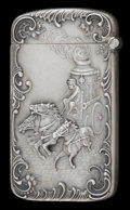 Silver Smalls:Match Safes, A KERR SILVER ADVERTISING MATCH SAFE . Wm. B. Kerr & Co.,Newark, New Jersey, circa 1890. Marks: (fasces), STERLING.2-1...