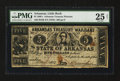 Obsoletes By State:Arkansas, Little Rock, AR- Arkansas Treasury Warrant $5 May 8, 1863 Cr. 51f. ...