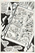 Original Comic Art:Splash Pages, Jim Mooney, Biljo White, and Frank Springer The Invaders #16Captain America/Major Victory Splash Page 17 Original...