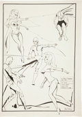 Original Comic Art:Splash Pages, Roger Brand Golden Age Hero Splash Page Original Art (undated)....