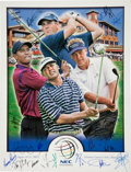 Golf Collectibles:Autographs, 2005 PGA World Championships Multi Signed Poster....