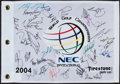 Golf Collectibles:Autographs, 2004 World Golf Championships Multi Signed Flag....