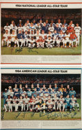 Baseball Collectibles:Photos, 1984 National and American League All Stars Team Signed OversizedPhotographs Lot of 2....