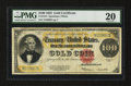 Large Size:Gold Certificates, Fr. 1215 $100 1922 Gold Certificate PMG Very Fine 20.. ...