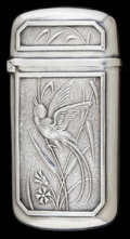 Silver Smalls:Match Safes, A WHITING SILVER MATCH SAFE . Whiting Manufacturing Company, NewYork, New York, circa 1890. Marks: (W with griffin), STER...