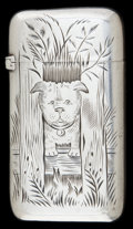 Silver Smalls:Match Safes, A FRANK WHITING SILVER MATCH SAFE . Frank M. Whiting, Attleboro,Massachusetts, circa 1890. Marks: W, STERLING, B239. 2-...