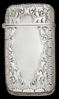 Silver Smalls:Match Safes, A WHITING SILVER MATCH SAFE . Frank M. Whiting Co., NorthAttleboro, Massachusetts, circa 1900. Marks: W (in radiatingc...