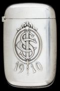 Silver Smalls:Match Safes, A WATROUS SILVER MATCH SAFE. Watrous Mfg. Co., Wallingford,Connecticut, circa 1910. Marks: (crescent-W), STERLING. ...