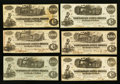 Confederate Notes:Group Lots, Real Confederate Notes with Printed Bogus Backs - FifteenExamples.. ... (Total: 15 notes)