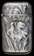 Silver Smalls:Match Safes, A WHITING SILVER MATCH SAFE . Whiting Manufacturing Company, NewYork, New York, circa 1900. Marks: (W with griffin), STER...