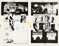 Frank Miller and Klaus Janson Batman: The Dark Knight Returns #1 Concluding Double-Page Spread 46 and 47 O