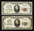 National Bank Notes:West Virginia, Hunters Paradise:. ... (Total: 2 notes)
