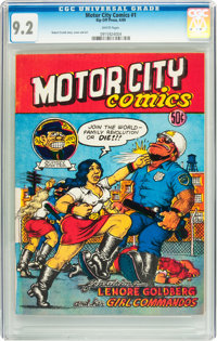 Motor City Comics #1 (Rip Off Press, 1969) CGC NM- 9.2 White pages