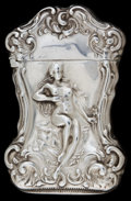 Silver Smalls:Match Safes, A WATROUS SILVER MATCH SAFE. Watrous Mfg. Co., Wallingford,Connecticut, circa 1890. Marks: (moon with W), STERLING,n...