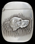 Silver & Vertu:Smalls & Jewelry, AN AMERICAN SILVER MATCH SAFE. Circa 1900. Marks: STERLING. 2-1/8 inches high (5.4 cm). 0.91 troy ounces. ...
