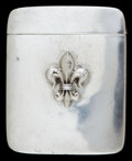 Silver Smalls:Match Safes, AN AMERICAN SILVER MATCH SAFE. Circa 1900. Marks: STERLING.2-1/8 inches high (5.4 cm). 1.10 troy ounces. ...