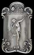 Silver Smalls:Match Safes, A MECHANICS SILVER MATCH SAFE. Mechanics Sterling Company,Attleboro, Massachusetts, circa 1900. Marks: (flag H),STERLI...