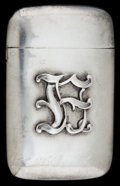 Silver Smalls:Match Safes, A GORHAM SILVER MATCH SAFE . Gorham Manufacturing Co., Providence,Rhode Island, circa 1900. Marks: (lion, anchor, G), STE...