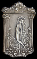 Silver Smalls:Match Safes, AN AMERICAN SILVER AND SILVER GILT MATCH SAFE . Circa 1890. Marks:STERLING. 2-1/2 inches high (6.4 cm). 0.73 troy ounce...