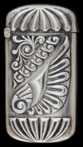 Silver Smalls:Match Safes, A BRYON & VALE SILVER MATCH SAFE . Bryon & Vale Co, NewYork, New York, circa 1900. Marks: C, STERLING. 2-1/8 incheshig...