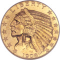 Indian Half Eagles, 1908-S $5 MS66 NGC....