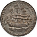 Colonials, 1778-1779 TOKEN Rhode Island Ship Token, Wreath Below, Silver WashAU55 PCGS. Breen-1141, W-1740, R.4....