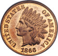 Proof Indian Cents, 1866 1C PR65 Red PCGS....