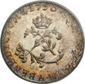 Colonials, 1756-A French Colonies Sou Marque MS64 PCGS. CAC. Breen-412,Vlack-36a, R.6....