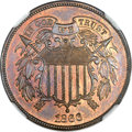 Proof Two Cent Pieces, 1866 2C PR66 Red and Brown Cameo NGC. CAC....