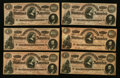 Confederate Notes:1864 Issues, CT65 $100 1864.. ... (Total: 10 notes)