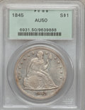 Seated Dollars, 1845 $1 AU50 PCGS....