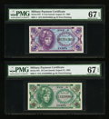 Military Payment Certificates:Series 641, Series 641 5¢, 10¢, 25¢, 50¢. PMG Superb Gem Unc 67 EPQ.. ... (Total: 4 notes)